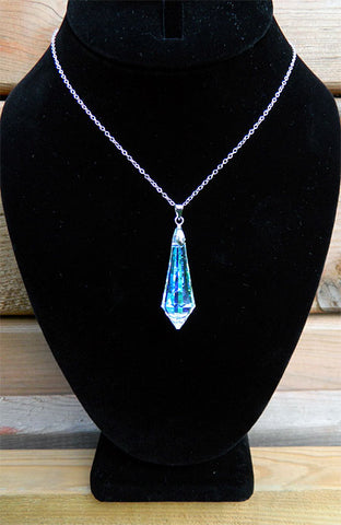 AB Icicle Crystal Necklace