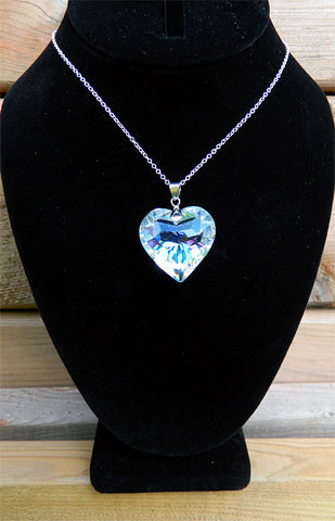 AB Heart Crystal Necklace