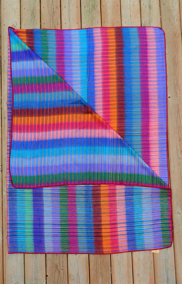 Alpaca Blend Blanket - Double Size Soft Rainbow