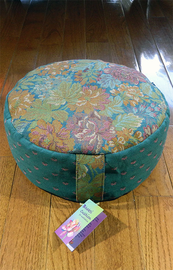 Bhakti Meditation Cushion Blue Garden