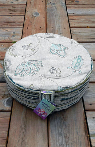 Bhakti Meditation Cushion Blue Lotus