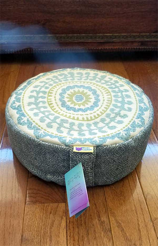 Bhakti Meditation Cushion Blue Mandala