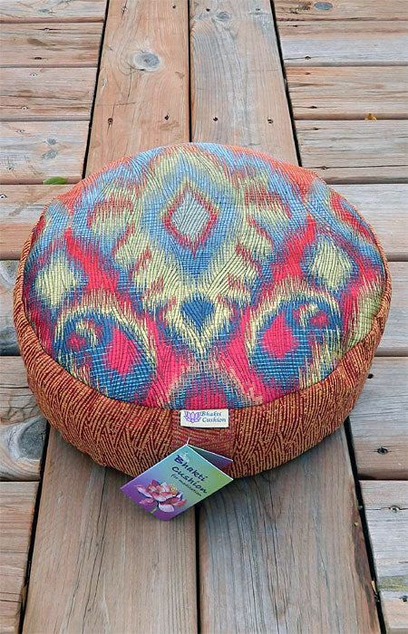 Bhakti Meditation Cushion Rainbow Flame