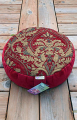 Bhakti Meditation Cushion Gold Brocade