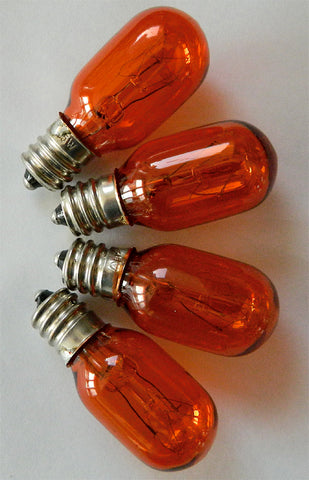 Light Bulbs for Himalayan Salt Lamps - Orange 4 Pack