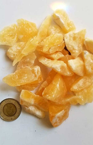 Rough Gemstones - Orange Calcite Chunks (Small)