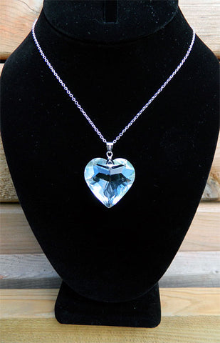 Clear Heart Crystal Necklace