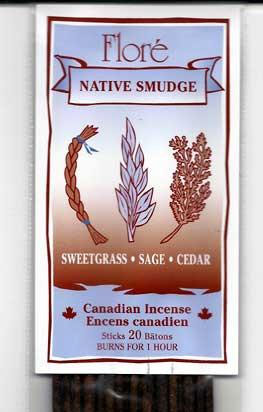 Flore Native Smudge Incense Sticks