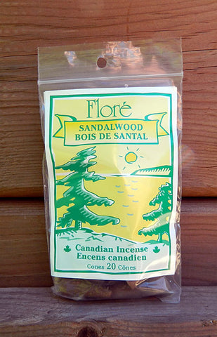 Flore Sandalwood Incense Cones