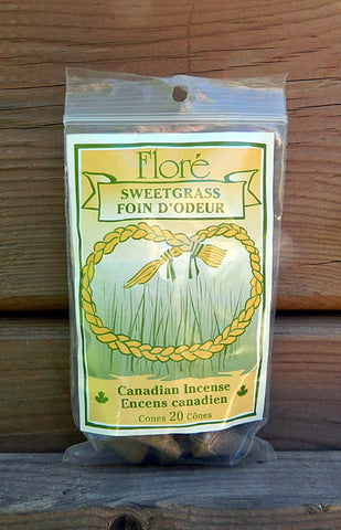 Flore Sweetgrass Incense Cones