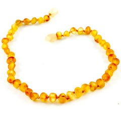 100% Certified Baltic Amber Baby Necklace Matte Honey
