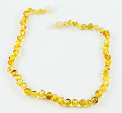100% Certified Baltic Amber Baby Necklace Polished Honey
