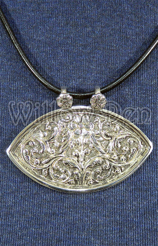 Sterling Silver Large Pendant 10