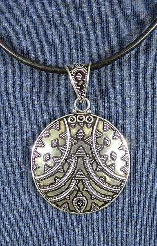 Sterling Silver Large Pendant 17