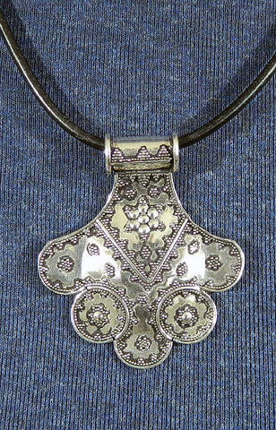 Sterling Silver Large Pendant 18