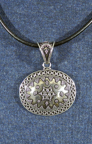 Sterling Silver Large Pendant 19