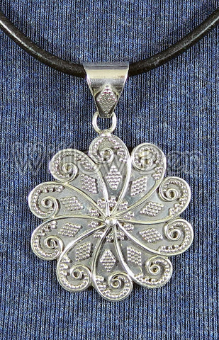Sterling Silver Large Pendant 24