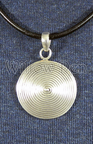 Sterling Silver Large Pendant 25