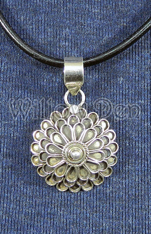 Sterling Silver Large Pendant 26