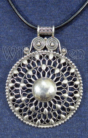 Sterling Silver Large Pendant 02