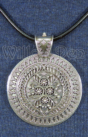 Sterling Silver Large Pendant 03