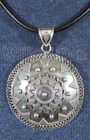Sterling Silver Large Pendant 05