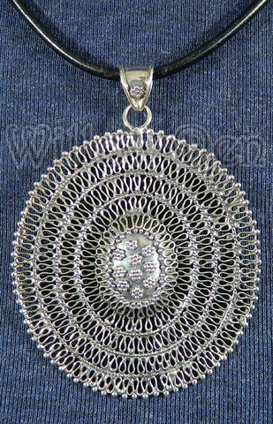 Sterling Silver Large Pendant 06
