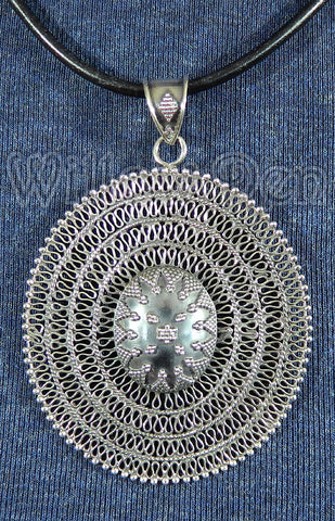 Sterling Silver Large Pendant 07
