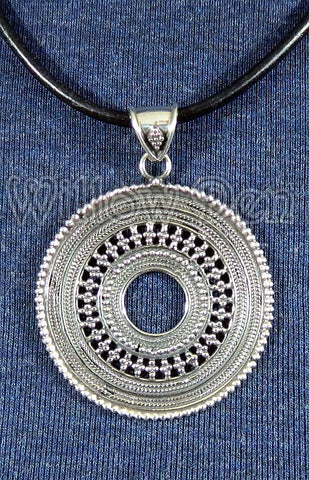 Sterling Silver Large Pendant 09