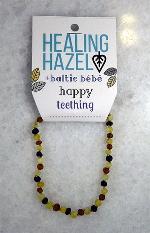 100% Certified Baltic Amber Baby Necklace Matte Multi
