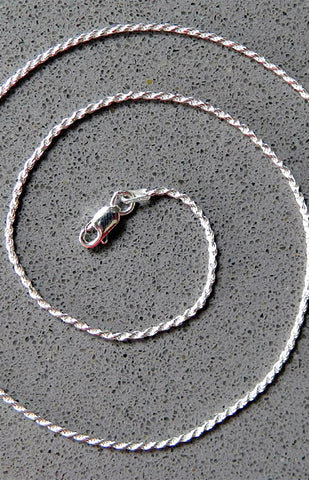 Sterling Silver Twisted Rope Chain 030