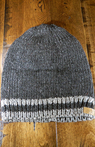 Hat - Grey & Charcoal Cabin Slouch Toque