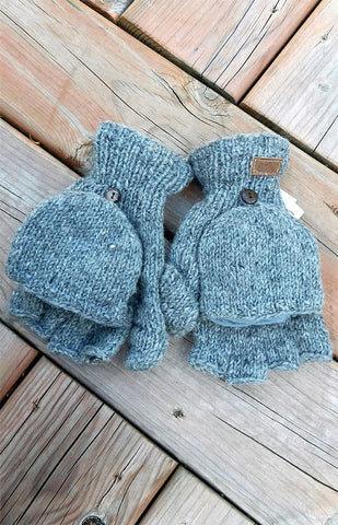 Mittens - Helix Texting Mitts / Grey