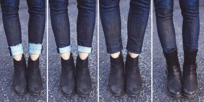How do you wear booties with skinny jeans?