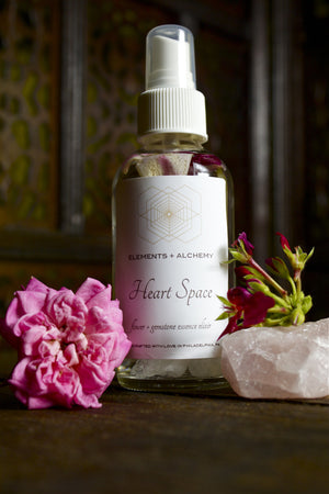 Heart Space Flower + Gemstone Essence Elixir