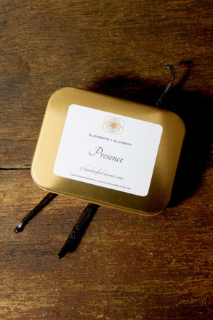 Presence Handcrafted Incense Cones with Sandalwood + Vanilla