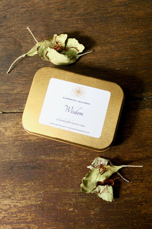 Wisdom Handcrafted Incense Cones with White Sage + Saffron