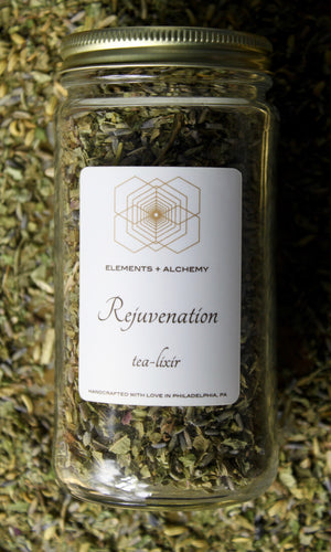 Rejuvenation Herbal Tea-Lixir with Lavender + Lemon Balm