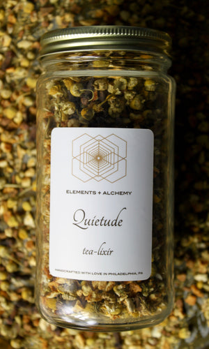 Quietude Herbal Tea-Lixir with Chamomile
