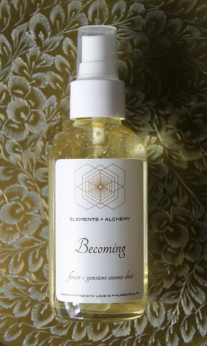 Becoming Flower + Gemstone Essence Elixir
