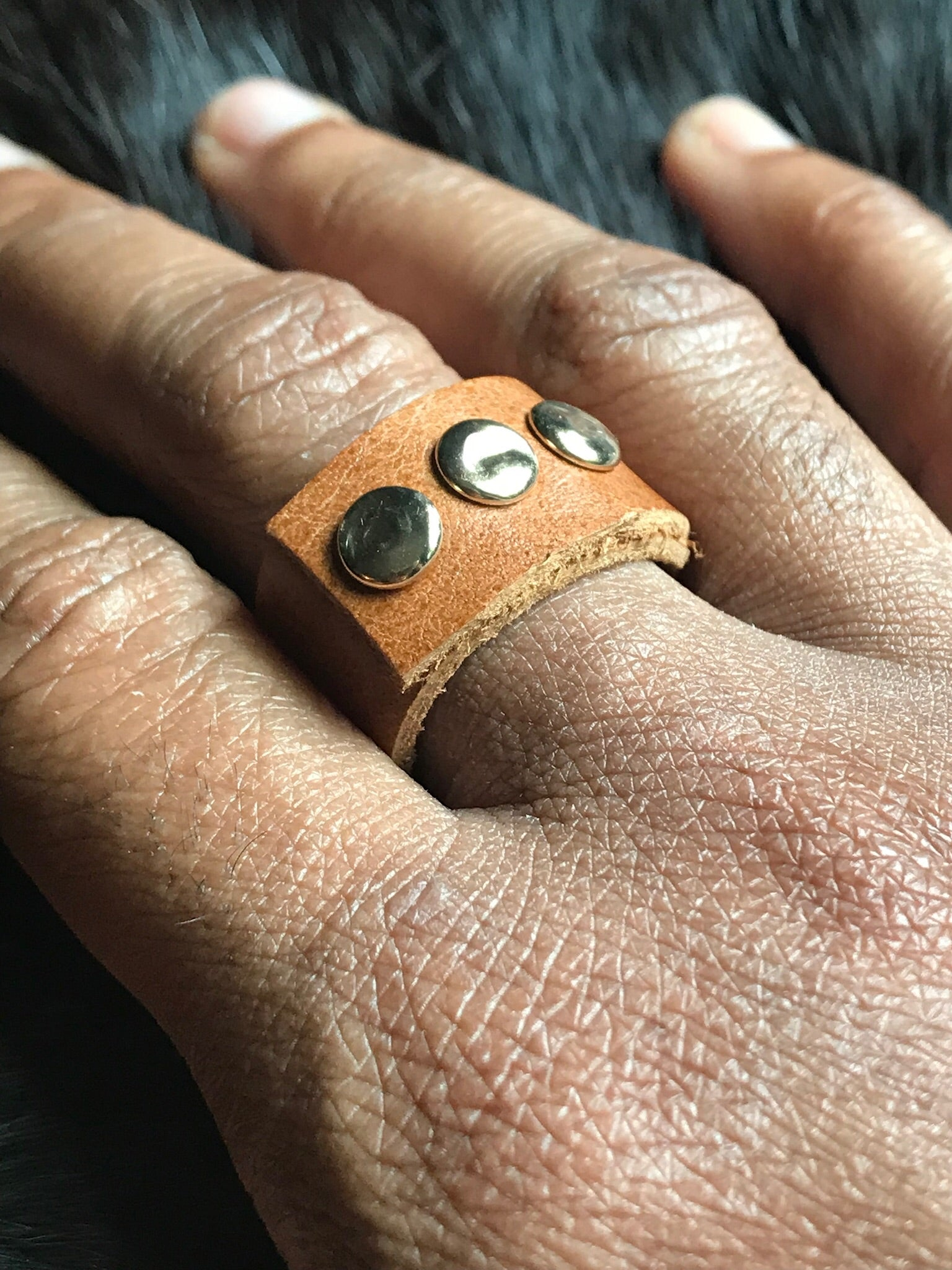 Tres Leather Ring