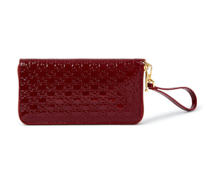 FUNTO PATENT LEATHER ZIP PURSE