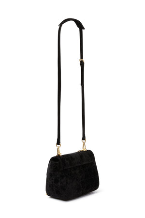 DARASIMI SUEDE CHAIN BAG | SUEDE CHAIN BAG | Blue Suede Bag
