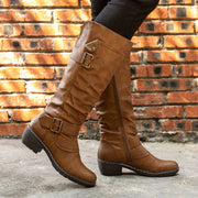 Women Daily Low Heel Pu Button Boots