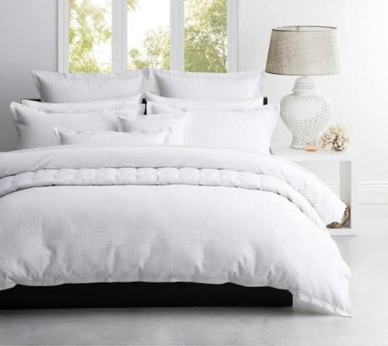 Ascot White Quilt Cover Set
