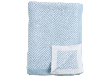 Herringbone Sky Blue Throw