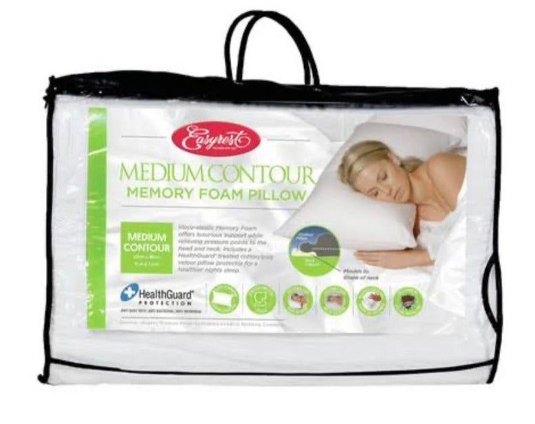 Medium Contour Memory Foam Pillow (Easyrest)
