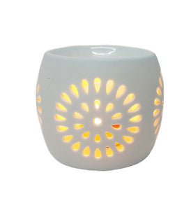 Mini Rosa Round White Oil Burner