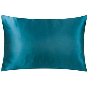 Teal Satin Standard Pillowcase (Hoteluxe)