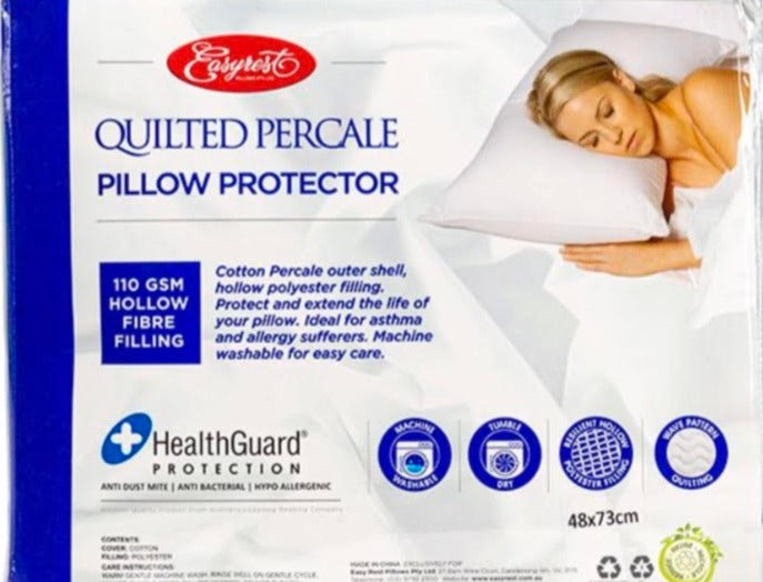 Quilted Percale Pillow Protector